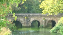Old Stone Bridge Stock Footage