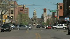 Wyoming State Capitol & Downtown Cheyenne Stock Footage