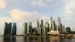 Singapore cityscape at sunrise. time lapse Stock Footage