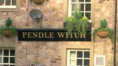 Pendle Witch Pub Stock Footage