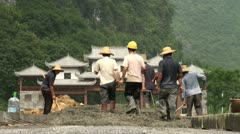 Construction site in rural area in China Stock Footage