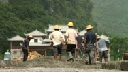 Stock Video Footage of Construction site in rural area in China
