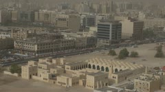 The State Mosque of Qatar and Doha city Stock Footage