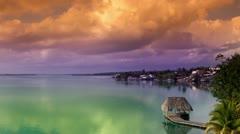 Stunning bacalar lagoon mexico Stock Footage