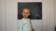 Babe and education Stock Footage