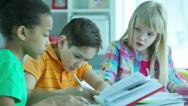 Homework doers Stock Footage