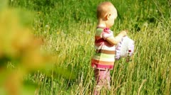 Babe in nature Stock Footage