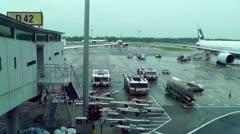 Singapore Changi Airport 07 Stock Footage