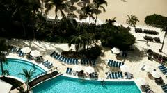 Acapulco luxury hotel turists Stock Footage