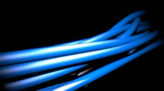 Cables with electric glow Stock Footage