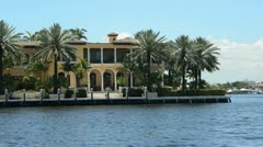 Expensive waterfront homes Stock Footage