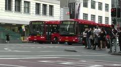 Sydney Downtown George Street 05 traffic Stock Footage