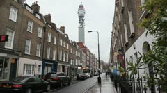 BT tower long street Stock Footage