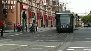Stock Video Footage of Haymarket Sydney Market City Hay Street 06 tram