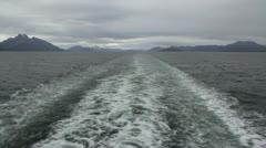 Patagonia Strait of Magellan wake Stock Footage