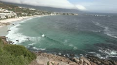 Wide shot of Clifton Beach, Cape Town Stock Footage