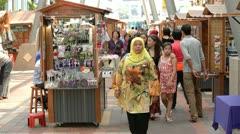 Kuala Lumpur Central Market Stock Footage