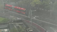 Stock Video Footage of Heavy Rain in Sydney Museum Railway Station