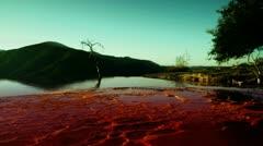 hierve el agua oaxaca mexico - stock footage