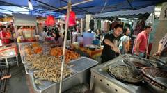 Kuala Lumpur Food Market 3 Stock Footage