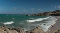 Wild beach baja california sur mexico Stock Footage