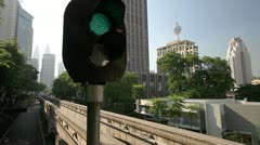 Kuala Lumpur Monorail - stock footage