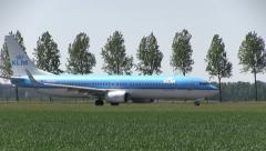 5. KLM Plane taxies to the runway Stock Footage