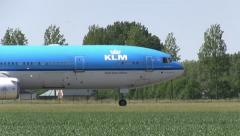 4. KLM Plane taxies to the runway Stock Footage