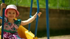 child on the playground - stock footage