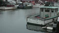 Lobster Boats - stock footage