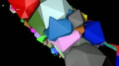 Moving platonisch Kamera Stock Footage