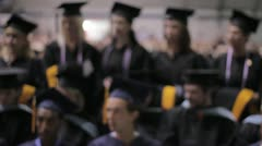 Stock Footage - College Graduates Pose for Photo - Blurred - stock footage