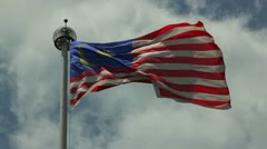 Malaysian Flag Stock Footage