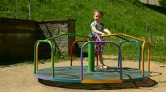 Child on the playground Stock Footage