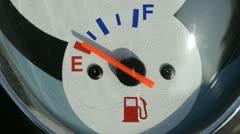 Scooter fuel gauge Stock Footage