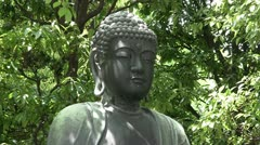 Buddha meditating (closeup) Stock Footage
