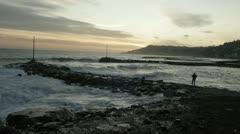SEASIDE_FISHING Stock Footage
