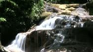 Slow Motion Erawan Waterfall In Thailand Stock Footage