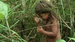 Brazil: people of Amazon river region 1 Stock Footage