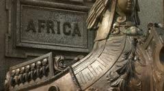 Brazil: Statue on Praca Sao Sebastiao, Manaus 1 Stock Footage