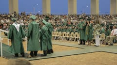 Stock Footage - High School Graduation Wide Shot, evening Stock Footage