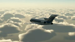 Aircraft flying above the clouds Stock Footage