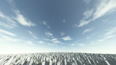 flying over city2 - stock footage