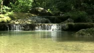 Pretty Waterfall And Pond In Thailand Jungle Stock Footage
