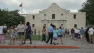 Stock Video Footage of Stock Footage - San Antonio Texas Lots of tourists - Diverse group