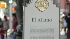 Stock Footage - San Antonio Texas - Downtown Alamo Sign - Spanish Stock Footage
