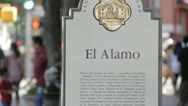 Stock Video Footage of Stock Footage - San Antonio Texas - Downtown Alamo Sign - Spanish