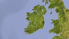 Ireland, zooming into large view Stock Footage