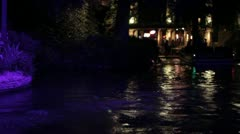 Stock Footage - San Antonio Texas River Walk - Tourist on Boat at night - Nice Stock Footage