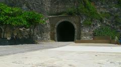 Quebradillas train tunnel - tunel - puerto rico Stock Footage